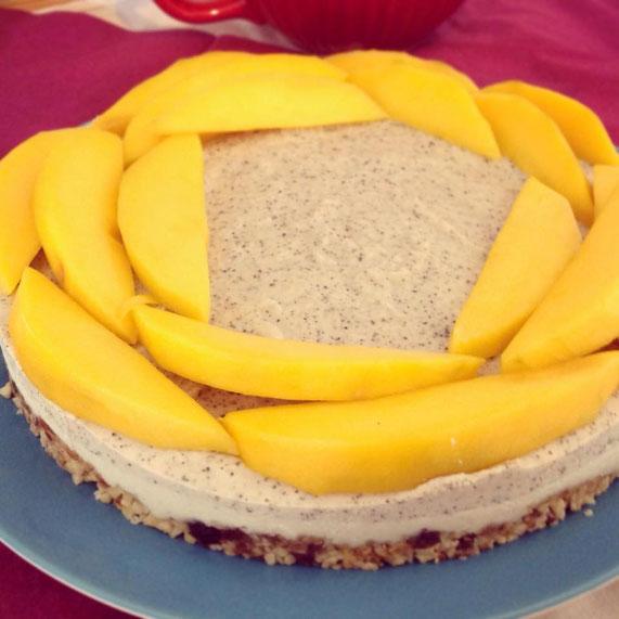 Earl-Grey-Torte mit Mango, vegan