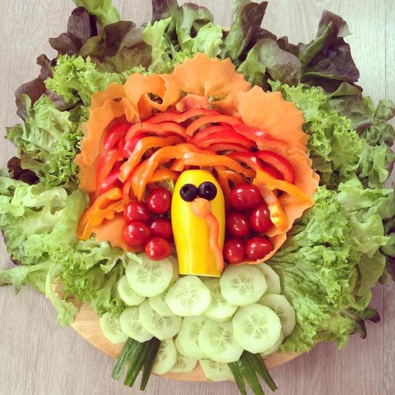 salat als truthahn vegan roh der vegane genussblog. Black Bedroom Furniture Sets. Home Design Ideas