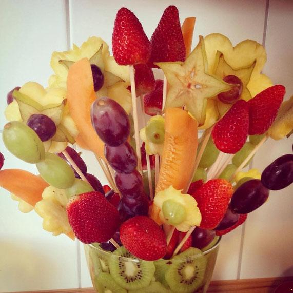 Obstblumenstrauß, vegan
