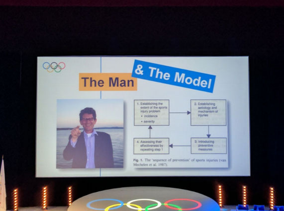 Keynote Vortrag mit Willem van Mechelen beim IOCprev2017