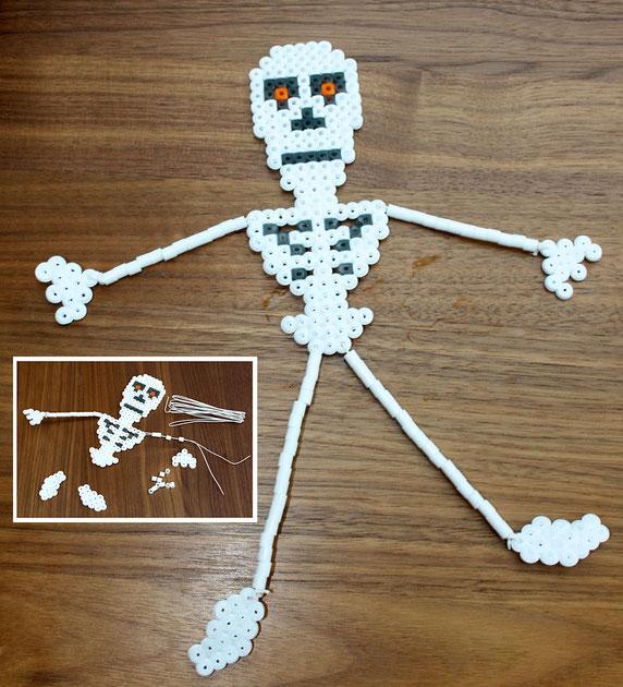 Spielwaren-Kroell, HAMA Buegelperlen;Halloween, Skelett