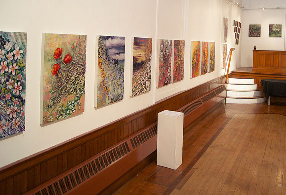 """Floral Nexus"" at ""West Unto the East"" exhibition at Gallery X in October 2014"
