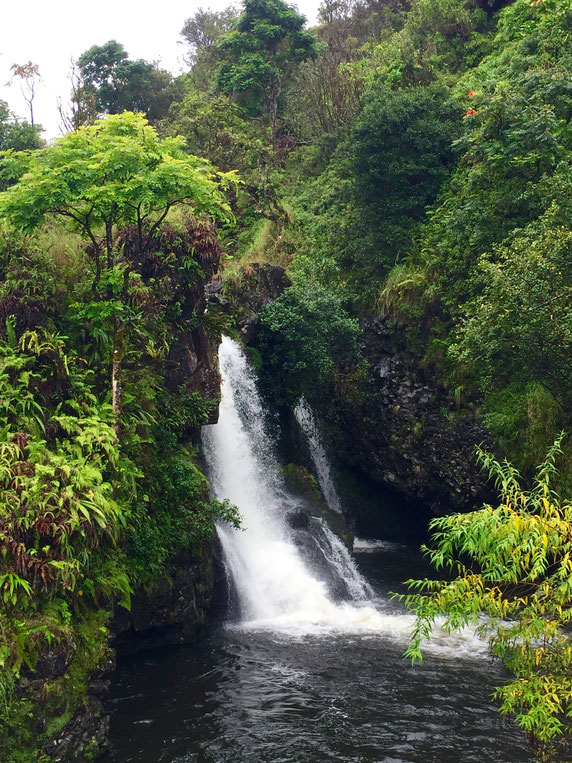 Hana Highway-Road to Hana-Waterfall