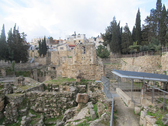 The Pool of Bethesda and the Probatica Church remains