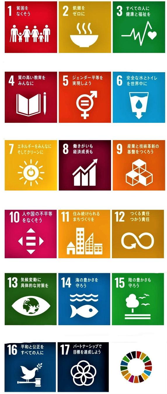 「SDGs」の17目標(外務省HPから)