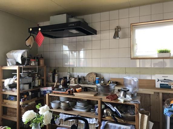 キッチンなし生活の様相。