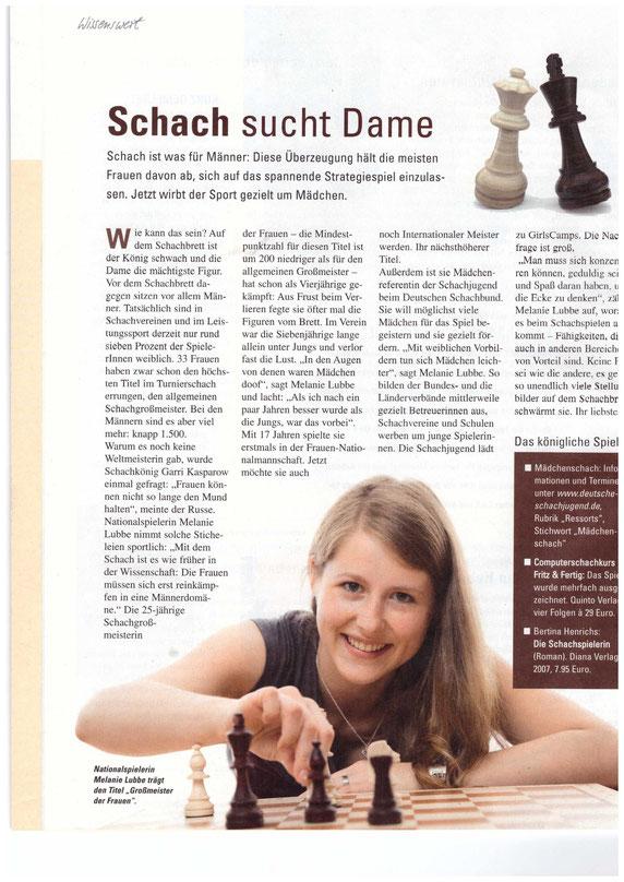 Schach sucht Dame, Interview mit Melanie Lubbe 2016