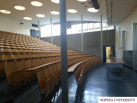 授業で使用している講堂。
