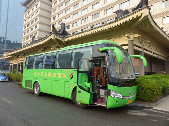 The bus which drove us to the Terracotta Army and throughout Xi'an, Grand Park Hotel