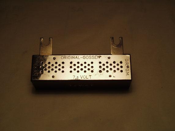 Gossen  Vorwiderstand für 7,5 Volt zum Universal Mavometer