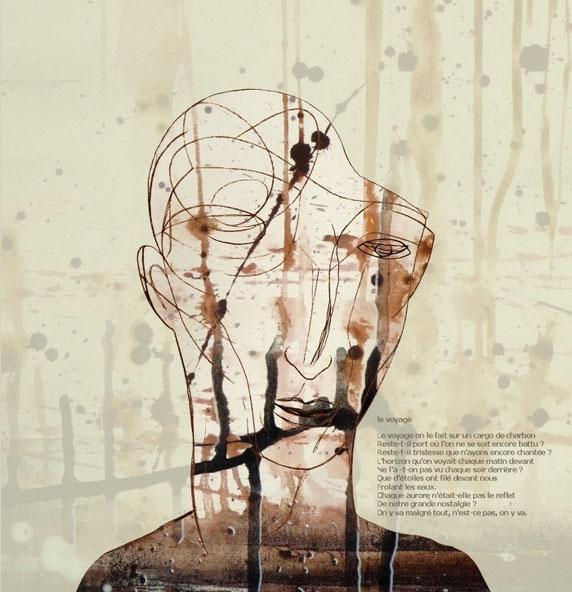 avec Pierre ROSIN - dessin et montage numérique / poème de Nazim Hikmet