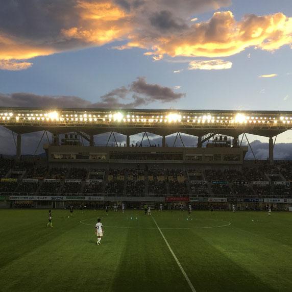 松本山雅VS横浜FC 松本市 アルウィン
