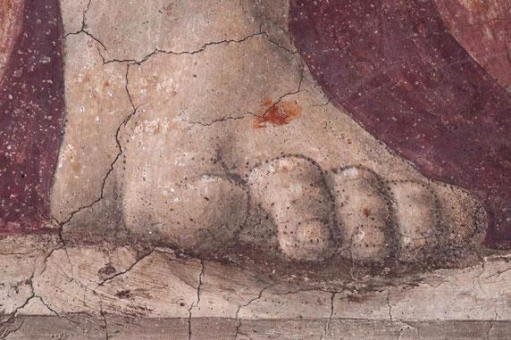 """Piero della Francesca, """"Resurrezione"""", particolare, 1450-1463 (Sansepolcro, Museo Civico)"""