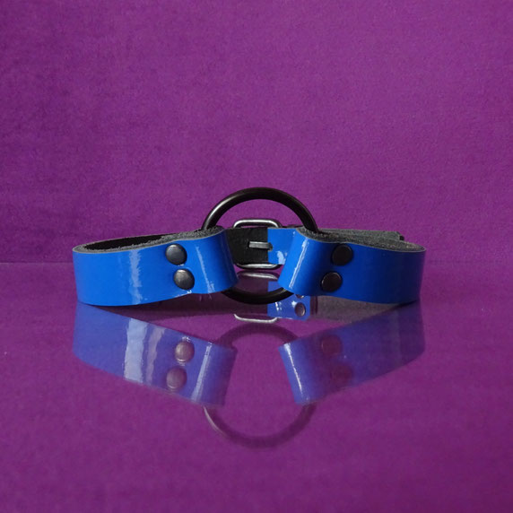 blue leather choker blue patent leather choker blue patent leather collar bdsm choker kinky collar emo goth punk choker collar blauwe choker blauw leren choker sub collar