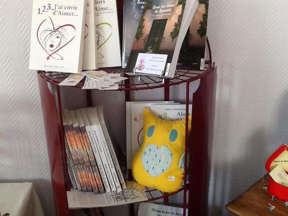 """Mes livres à la """"Boutique des artistes"""" de Blainville-Sur-Mer."""