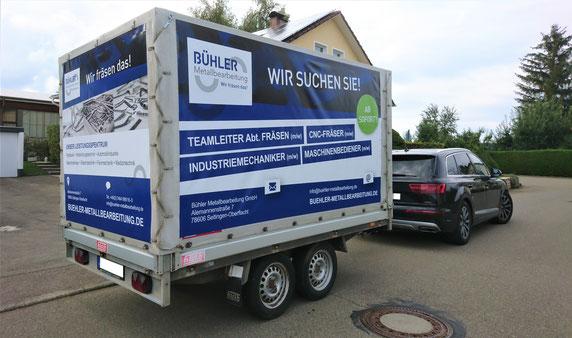 Werbeanhänger,anhängerwerbung Fetzer Beschriftungen Aldingen Aixheim