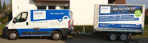 Werbeanhänger Werben mit Anhänger Fetzer Beschriftungen Aldingen Aixheim