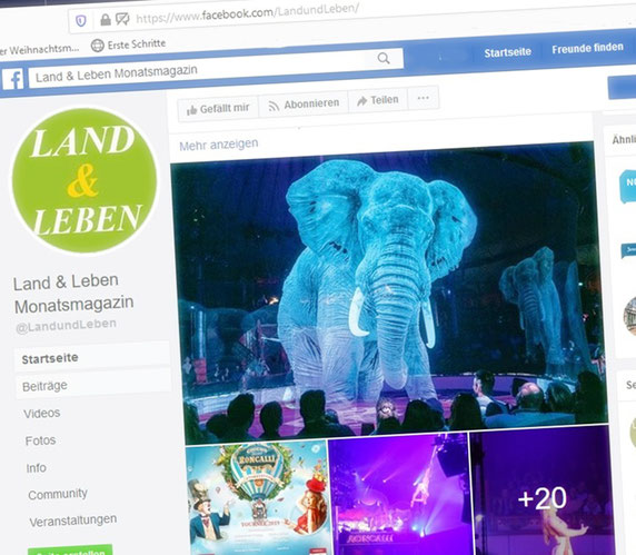Facebook Land und Leben