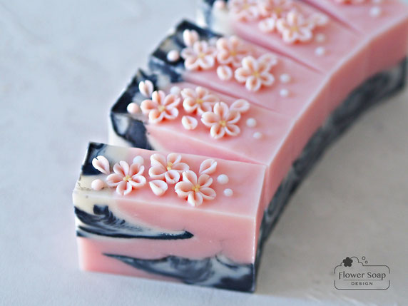 丸の内のお稽古 手作り石けん 資格が取れる手作り石けん教室 アートソープ 桜の石けん