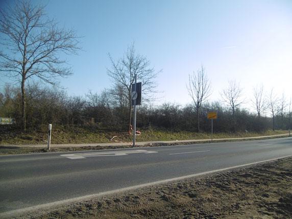 Zwischen den beiden Schildern dürfen Sie 50 km/h fahren!
