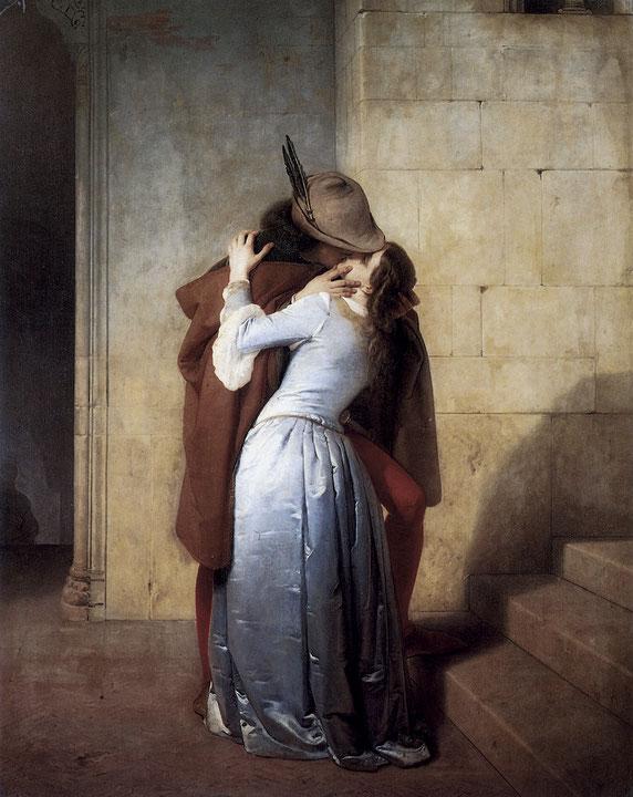 "Francesco Hayez, ""Il Bacio"" (1859)"