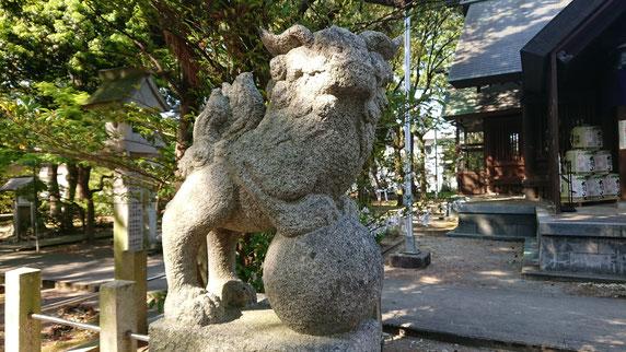 十社大神 江戸時代の狛犬 玉乗り狛犬