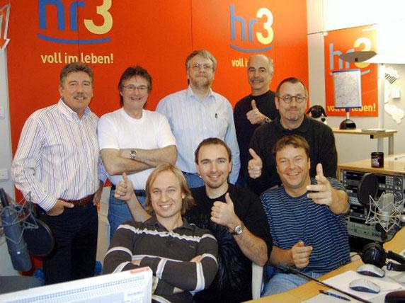 2008 als Gastgeber mit den alten Kumpels bei hr3
