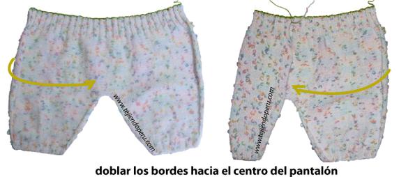 pantalón bebe tejiendoperu