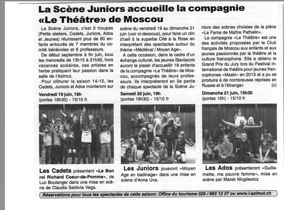 Journal Le républicain du 15 janvier 2015