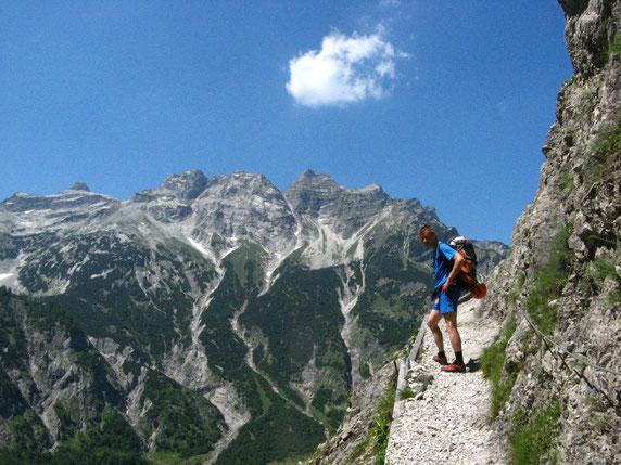 Zustieg zur Walser Hütte