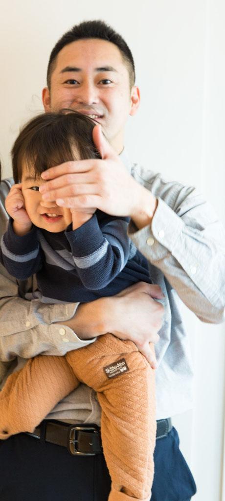 2018年冬 息子とツーショット写真撮影 指の音指圧治療院
