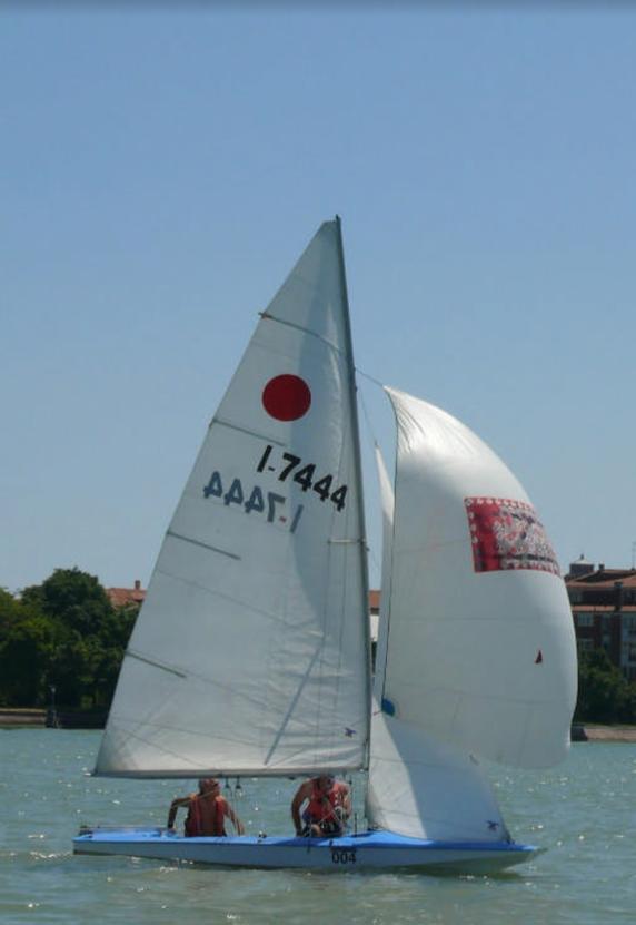 Enrico Taiana e Ovidiu Gavrilluc al traverso su ITA7444 Melville alla Velalonga di Venezia 2017