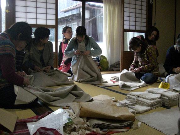 早川ユミのちくちくワークショップ 2012.2.20