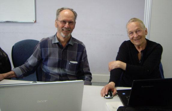 21/4/2016 - Dernière séance pour 2 personnes heureuses et souriantes après 2 heures d'explications et d'essais - Merci Jeannine et Bernard