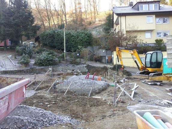 Der Blick von der anderen Seite. Stand der Bauarbeiten am 01.12.2012.