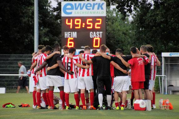 Die Mannschaft nach dem Sieg. Foto: Mathias Reß