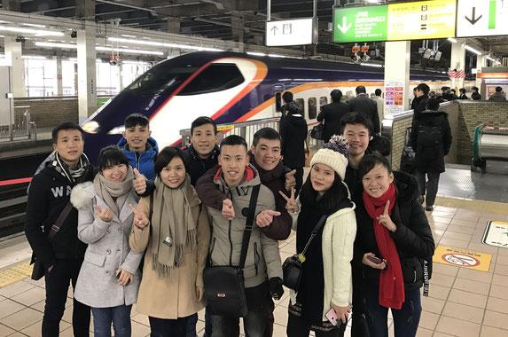<初体験の日本新幹線でさいたまから山形へ移動>