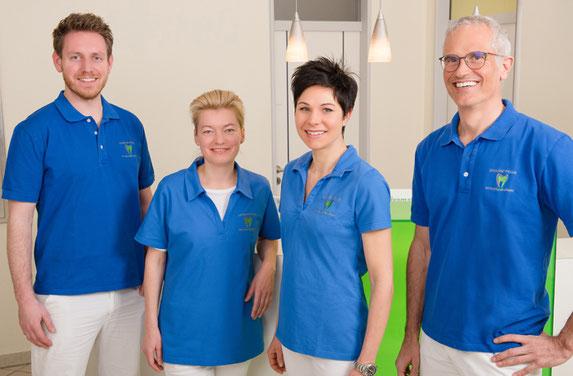 Dr. med. dent. Stephanie Aubele, Dr. med. dent. Axel Schouba, Zahnärztin Anna Nowak (geb. Schuster)