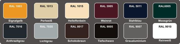 Xterior verfügbare Farben
