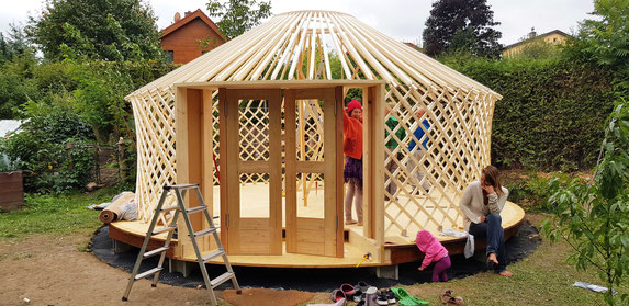 Tiny House / Jurte bauen / rundesLeben.at