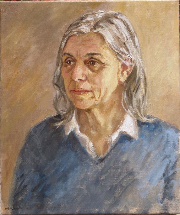 Tony Wahlander (Wåhlander) peint aussi de nombreux portraits, ici celui de Odile