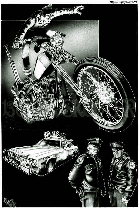 CHOPPER STORY 2015 Artwork・挿絵・VIBES MAGAZINE/KnuckleHeadChopper・ナックルヘッドチョッパー