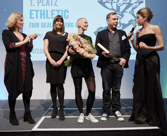 Ethletic gewinnt den Fair Trade Award, 1. Platz
