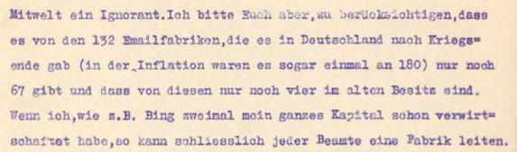 Ausschnitte von Brief Hans Baumann an Theodor Sehmer 13.4.1930