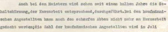 Ausschnitt aus Brief Georg Baumann an Sehmer 18.6.1931