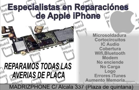 Especialistas en reparaciones de placa iphone. Todos los modelos