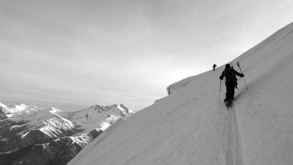 Ski sur le glacier de la Meije