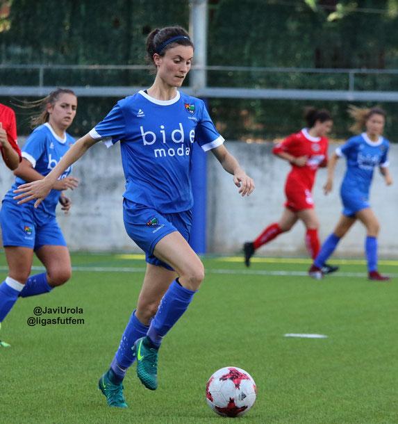 Maddi, autora del gol - Foto archivo: Javi Urola