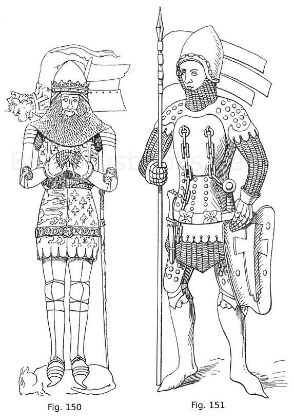 Fig. 150. Eduard der schwarze Prinz, Sohn Eduards III. (1330—1376). Von dessen Grabmal in der Kathedrale zu Canterbury. Nach Stotthart, I, 15.