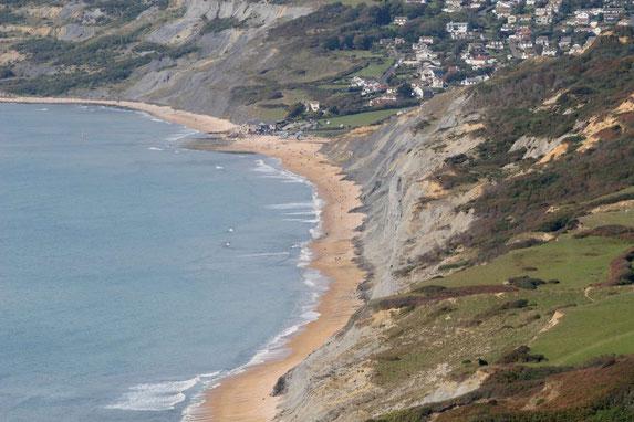 Blick vom Golden Cap auf die Jurrassic Coast
